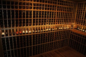 Beautifully Lighted Custom Wine Cellar CA - Orange County Wine Geek