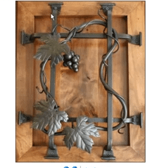 Check out this Hand-Forged Custom Iron Wine Cellar Doors