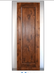 Choose this Solid Panel Custom Wine Cellar Door