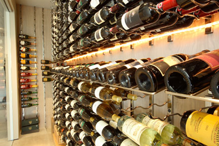 Wine Cellar Designs with Lighting Metal Wine Racks