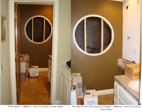 Before Photos - Custom Wine Cellars Laguna Hills California Project