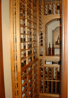 Mahogany Wine Racks with High Reveal Display Row