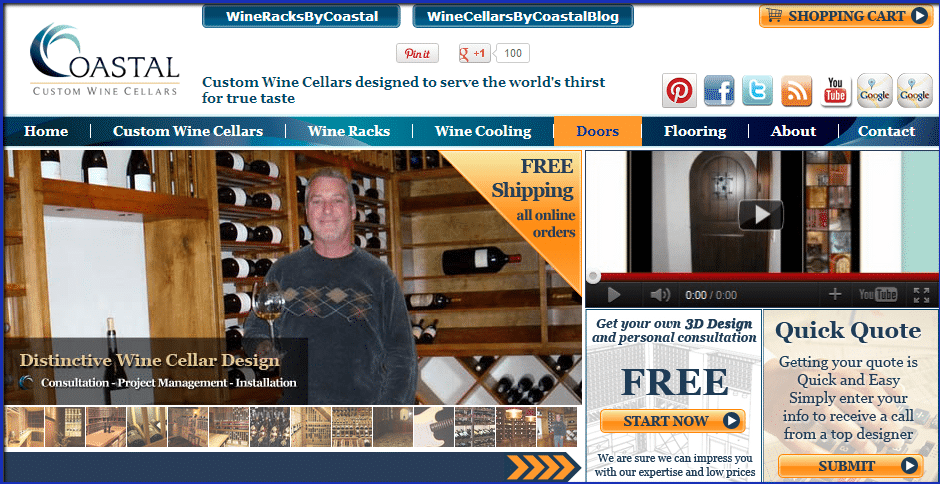 Coastal Custom Wine Cellars Wine Cellars by Coastal Intro to our Custom Wine Cellars Website