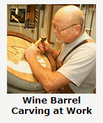 Peter Forbes and His Wine Barrel Carving Features for Custom Wine Cellars   Unique Individualized Wine Barrel Carvings    Part One