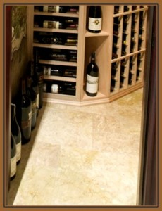 Cork Wine Cellar Flooring