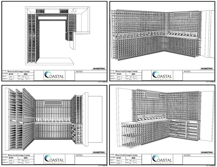3D Wine Cellar Design - Custom Wine Cellars Orange County CA