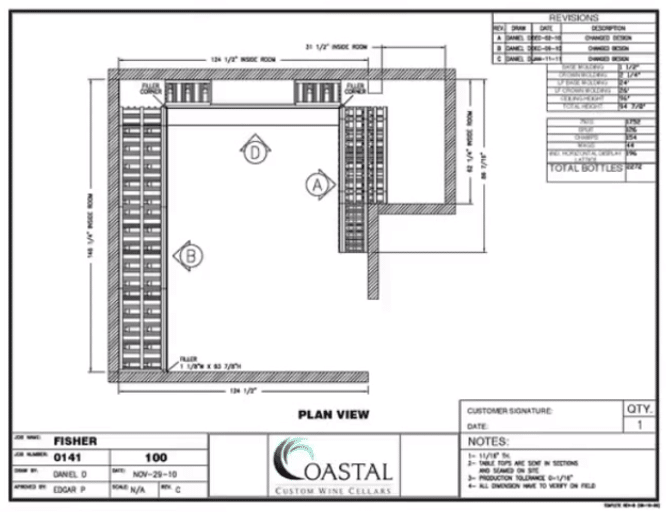 Floor Plan - Custom Wine Cellars Orange County CA