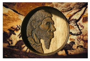 Cave Man Wine Barrel Art