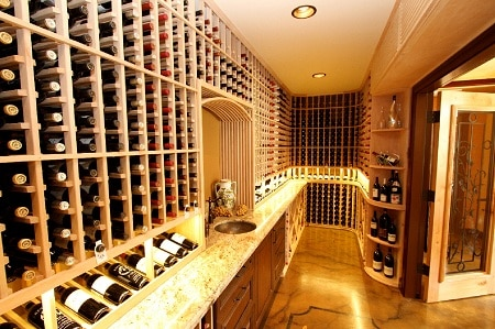Climate Control Wine Cellar and Wine Cellar Lighting