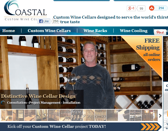 Wine Cellar Design by Coastal Custom Wine Cellars