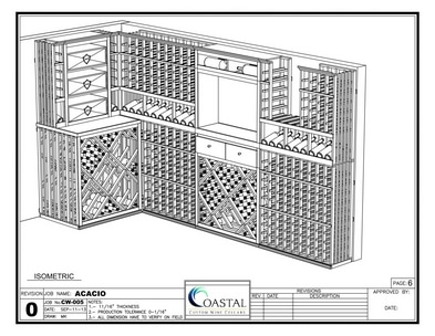 3D Wine Cellar Design California