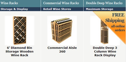 Coastal Custom Wine Racks Shopping Site