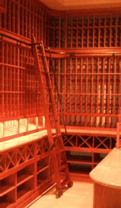 Rolling Ladder for Wine Cellars